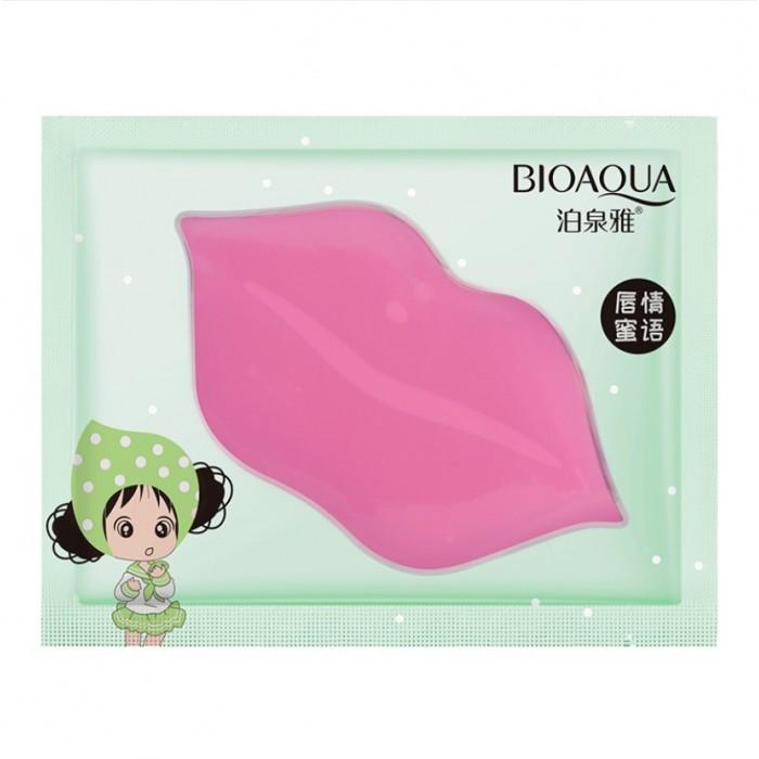Патчі для губ Bioaqua з зеленим лимонадом, маска для губ, 1шт