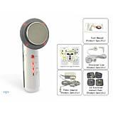 Апарат/Ультразвукової масажер 3в1 з технологією EMS (електроміостімуляция) і світлодіодним опроміненням для, фото 4