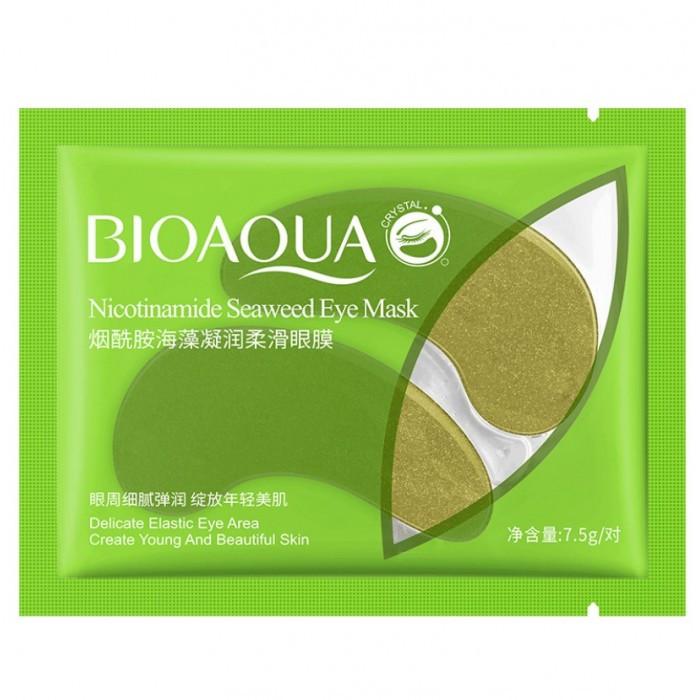 Патчі під очі гідрогелеві Bioaqua Nicotinamide Seaweed Eye Mask з никотинамидами і водоростями,1 пара