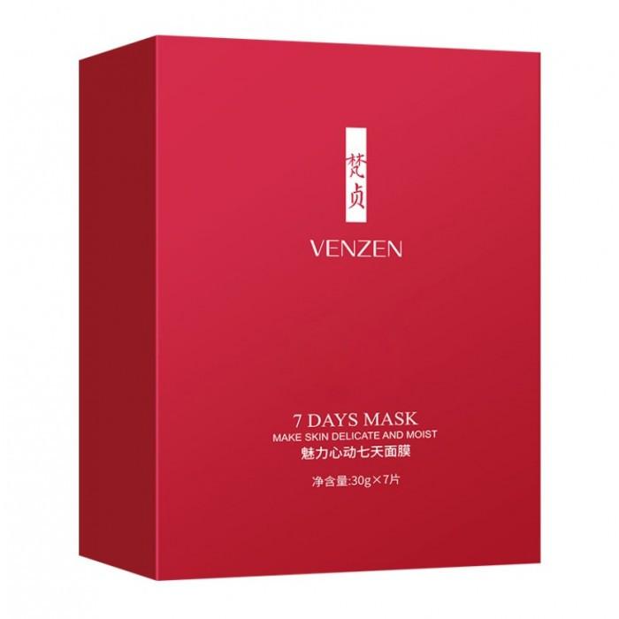 Набор тканевых масок Venzen 7 Days Mask, 7 шт