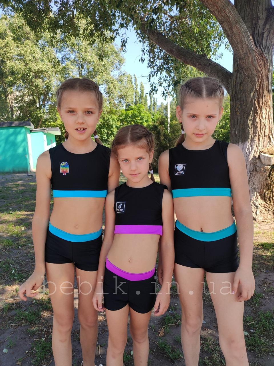 Дитячий купальник для танців pole dance зріст 116-150