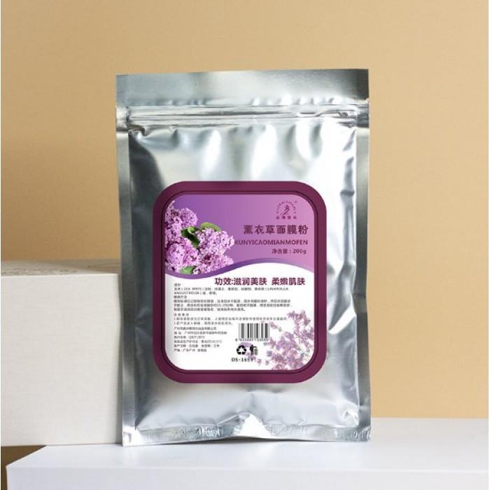 Альгинатная маска антистрессовая JIAZHOUYIN CHUA lavender, с экстрактом лаванды, 200 г