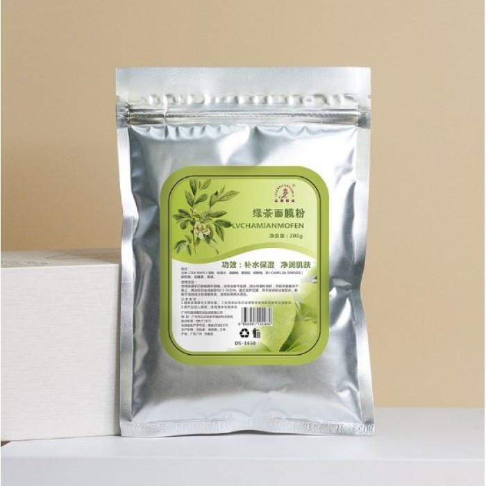 Альгінатна маска тонізуюча JIAZHOUYIN CHUA Green Tea, з екстрактом зеленого чаю, 200 г