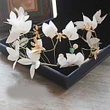 """Обідок для волосся з квітами """"Tender Flower"""", білий, червоний, фото 3"""
