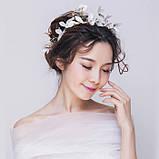 """Обідок для волосся з квітами """"Tender Flower"""", білий, червоний, фото 4"""