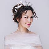 """Обідок для волосся з квітами """"Tender Flower"""", білий, червоний, фото 6"""