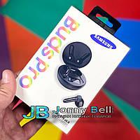 Беспроводные Bluetooth наушники Самсунг Buds Pro индикация заряда, с кейсом (розовые)