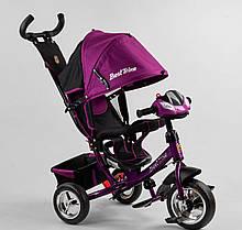 Велосипед фиолетовый 3-х колёсный 6588 / 79-822 Best Trike КОЛЕСО ПЕНА