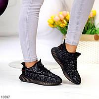 """Жіночі текстильні кросівки Чорні """"Qatar"""", фото 1"""