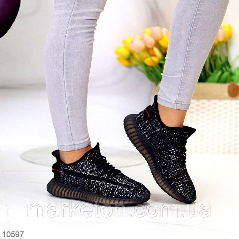 """Жіночі текстильні кросівки Чорні """"Qatar"""""""