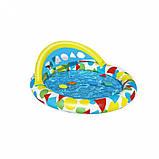 Басейн дитячий надувний 52378 круглий, 120-117-46см, фото 3