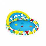 Басейн дитячий надувний 52378 круглий, 120-117-46см, фото 4