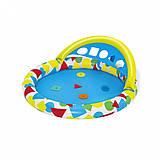 Басейн дитячий надувний 52378 круглий, 120-117-46см, фото 5