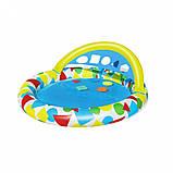 Басейн дитячий надувний 52378 круглий, 120-117-46см, фото 7