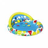 Басейн дитячий надувний 52378 круглий, 120-117-46см, фото 8