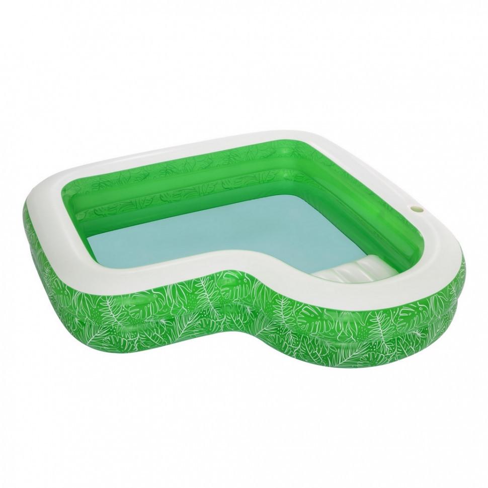 Сімейний надувний басейн 54336 з сидінням, 231-231-51см