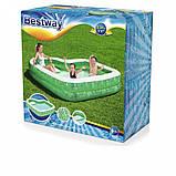 Сімейний надувний басейн 54336 з сидінням, 231-231-51см, фото 2