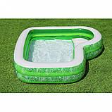 Сімейний надувний басейн 54336 з сидінням, 231-231-51см, фото 3