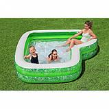 Сімейний надувний басейн 54336 з сидінням, 231-231-51см, фото 4
