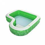 Сімейний надувний басейн 54336 з сидінням, 231-231-51см, фото 5