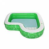 Сімейний надувний басейн 54336 з сидінням, 231-231-51см, фото 6