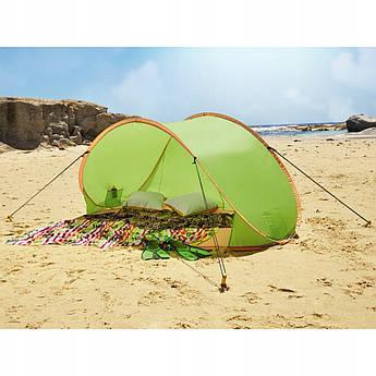 Пляжная палатка / откидной экран XXL 220х120х100 см зеленый Польша