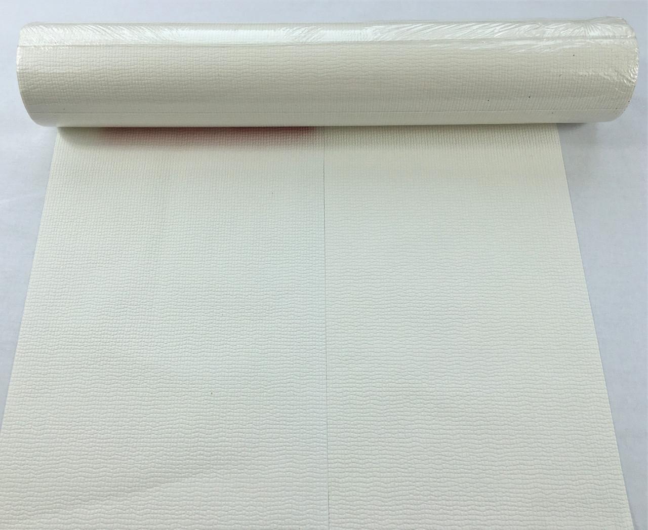 Белые однотонные обои 140715, холодного белоснежного оттенка, моющиеся виниловые на флизелиновой основе