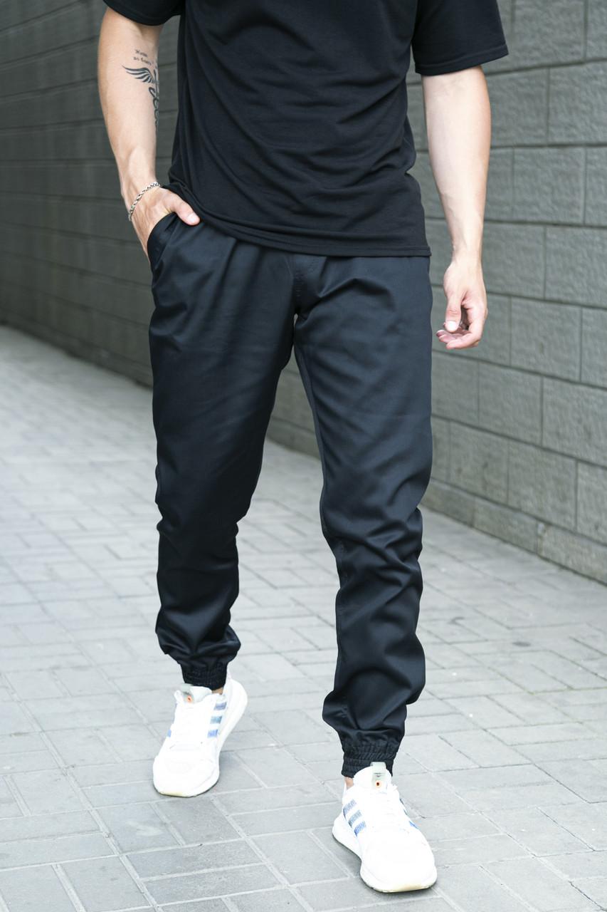 Штаны карго мужские Intruder черные осенние   весенние   летние спортивные брюки