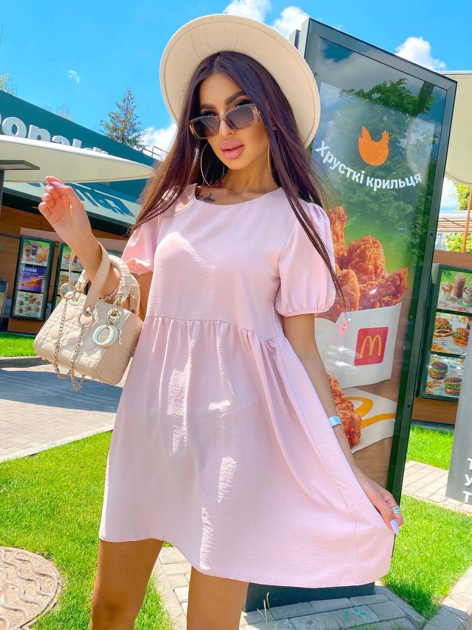 Легке повсякденне жіноче плаття вільного крою