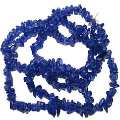 Відколи Кварц Синій, Крихта Кубиками, Розмір від 4 до 6 мм, Намистини Натуральний Камінь, Рукоділля
