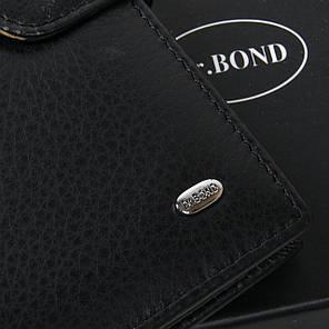 Гаманець портмоне чоловіче великий шкіряний на кнопці чорний всередині монетниця Dr. Bond MS-38 15х10,5х3 см, фото 2