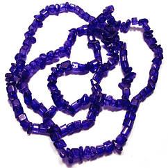 Відколи Кварц Синій Кубиками, Розмір від 4 до 6 мм, Намистини Натуральний Камінь, Рукоділля