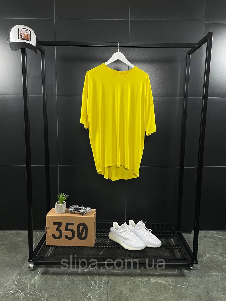 Жовта оверсайз футболка ASOS | бавовна + еластан