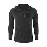 Тактична кофта-худі Lesko A199 Black XL куртку з капюшоном светр