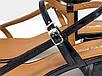 Дизайнерские босоножки на невысоком расклешенном каблуке, выполнены из натуральной итальянской лаковой кожи, фото 4