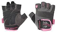 Перчатки для фитнеса женские. Улучшенный хват POWER SYSTEM Синий Розовый