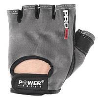 Перчатки для фитнеса. Улучшенный хват POWER SYSTEM Черный Серый