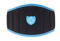 Женский пояс из неопрена для тяжелой атлетики POWER SYSTEM голубой