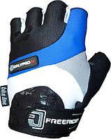Велоперчатки женские Power System CALYPSO Серый Синий