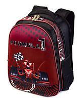 Школьный рюкзак ранец ортопедический для мальчика 1, 2, 3 класс Портфель полу каркасный для школы Машина Спорт
