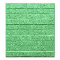 3Д панель декоративная стеновая 10 шт. Зеленая Трава Кирпич (самоклеющиеся 3d панели оригинал) 700x770x5 мм, фото 1