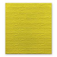 3Д панель декоративная стеновая 10 шт. Желтый Кирпич (самоклеющиеся 3d панели для стен оригинал) 700x770x5 мм, фото 1