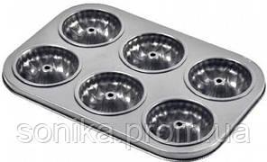 Форма для випічки кексів Stenson 6 шт 26.8×18.8×3 см МН-0545