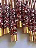 Стильний набір кісточок для макіяжу в гаманці Gold Glamur, 10 шт.  Якісні кисті для макіяжу в стилі Glamor., фото 5