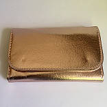 Стильний набір кісточок для макіяжу в гаманці Gold Glamur, 10 шт.  Якісні кисті для макіяжу в стилі Glamor., фото 2