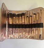 Стильний набір кісточок для макіяжу в гаманці Gold Glamur, 10 шт.  Якісні кисті для макіяжу в стилі Glamor., фото 10
