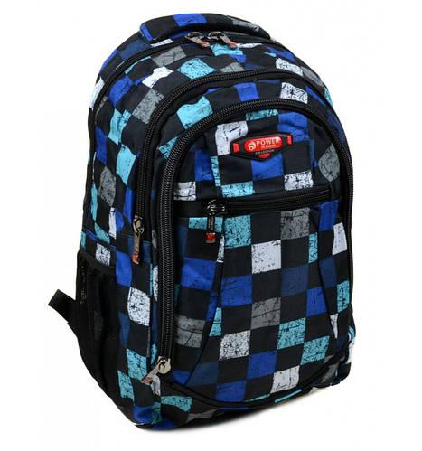 Мужской прочный повседневный рюкзак 28 л. Power In Eavas 6084 black черный