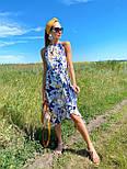 Летний сарафан с обвязкой на шее в цветочный принт длиной миди (р. 42-44) 36032662, фото 3