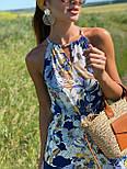 Летний сарафан с обвязкой на шее в цветочный принт длиной миди (р. 42-44) 36032662, фото 2