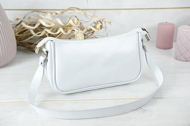 """Сумка женская. Кожаная сумочка """"Джулс"""". гладкая кожа, цвет Белый"""